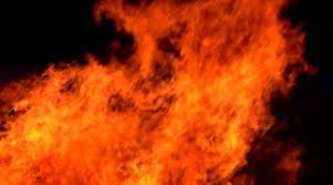 Пожар в посёлке Суда