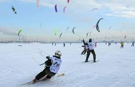 Соревнования по сноукайтингу и зимнему виндсерфингу