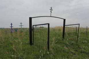 Украдена ограда из кладбища